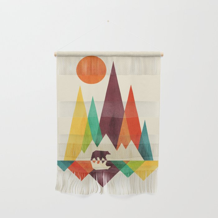 Bear In Whimsical Wild Wall Hanging