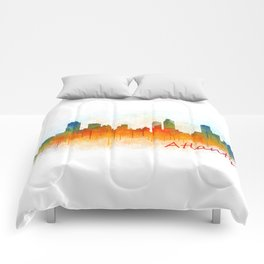 Atlanta City Skyline Hq v3 Comforters