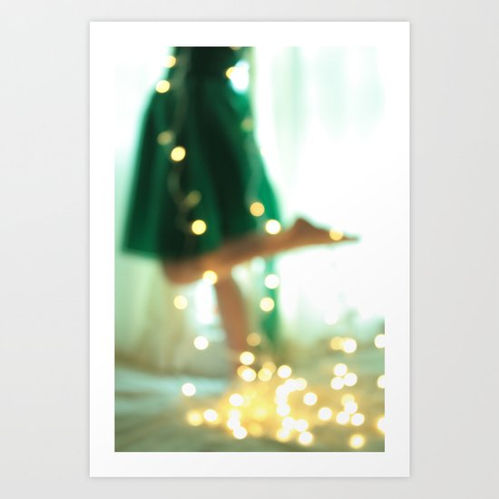 Fairy dancer. Art Print