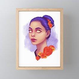 Flower Girl Framed Mini Art Print