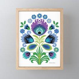 Polish Folk Flowers Purple Framed Mini Art Print