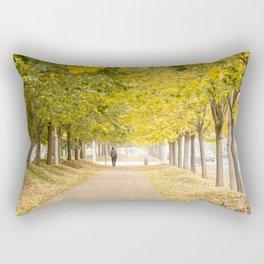 Walking under the trees in Autumn I Rectangular Pillow