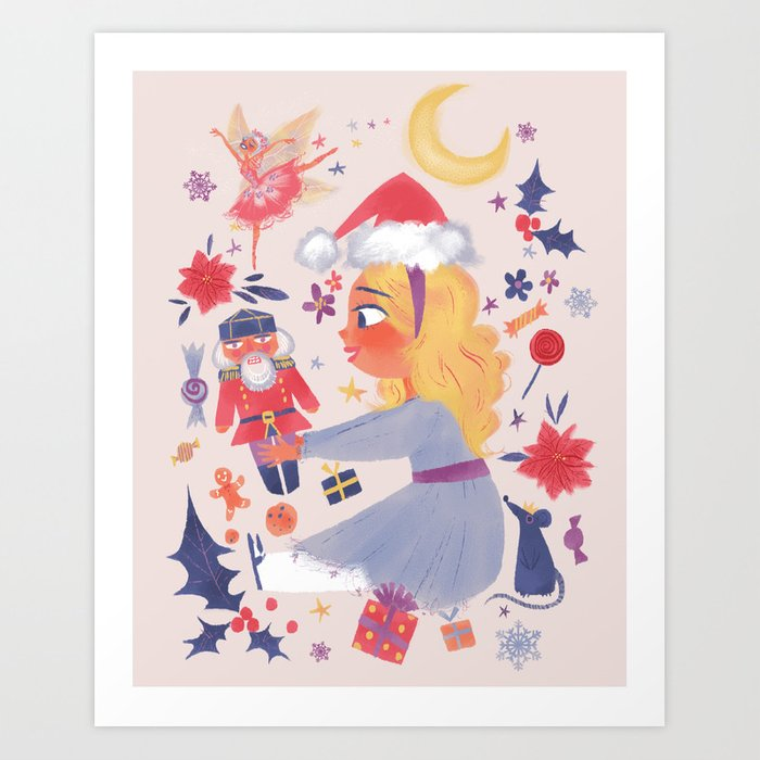 Clara and the Nutcracker Art Print