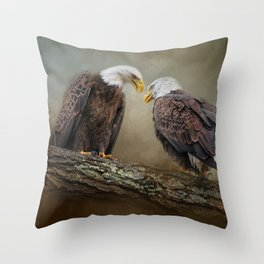 Quiet Conversation Throw Pillow