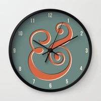 ampersand Wall Clocks featuring Ampersand by Bill Pyle