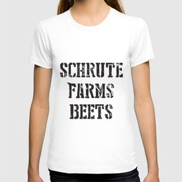 Schrute Farms Beets Tv Countryside Dwight Funny Humor Mens Farm t-shirts T-shirt