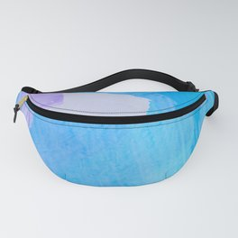 brush painting texture abstract background in blue purple Fanny Pack