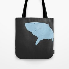 All lines lead to the...Inverted Great White Shark Tote Bag