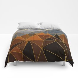 Autumn abstract landscape 4 Comforters