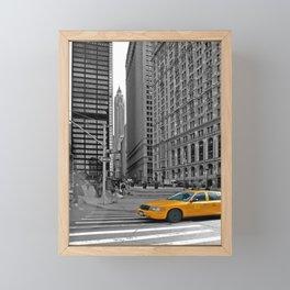 NYC - Yellow Cabs - Trinity Place Framed Mini Art Print