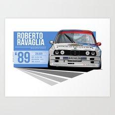 Roberto Ravaglia - 1989 Zolder Art Print