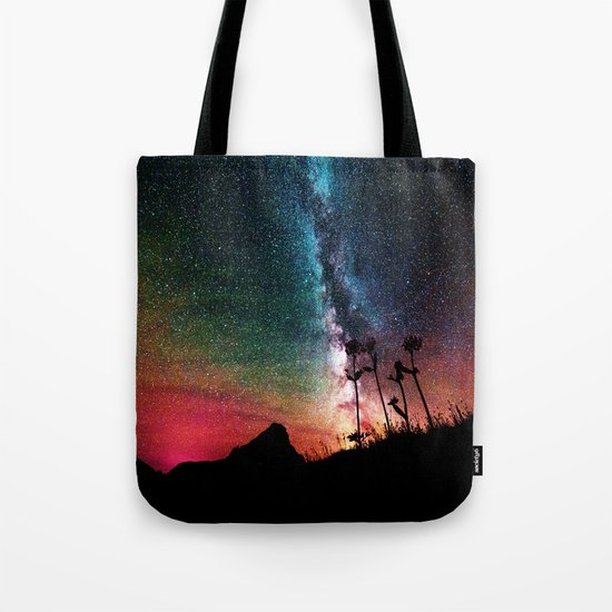 Colorful Milky Way Landscape Tote Bag