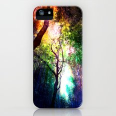 rainbow rain iPhone (5, 5s) Slim Case