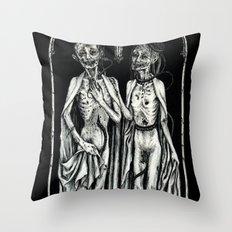 Dead Lovers (after Matthias Grünewald) Throw Pillow