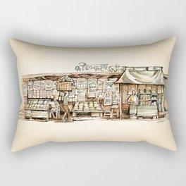 Kolkata India Sketch in Watercolor (2) Rectangular Pillow