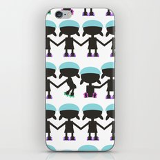 Roller Derby Paper Chain Dolls iPhone & iPod Skin