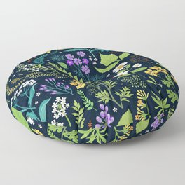 Pattern with flowers. Modern floral background. Floor Pillow