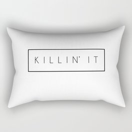Killin' It - Black Rectangular Pillow
