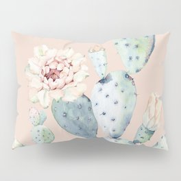 Desert Rose Cactus Pink Pillow Sham