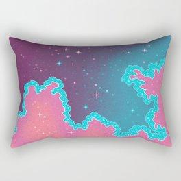 Candy Unicorn Pixel Galaxy Rectangular Pillow