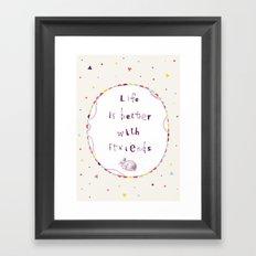 Fwriends Framed Art Print