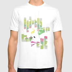bEAutY White MEDIUM Mens Fitted Tee
