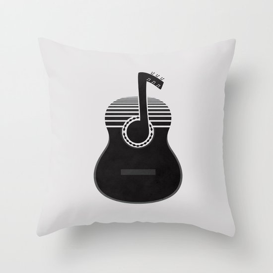 Classical Notes Throw Pillow