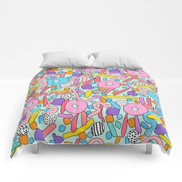 CIRCLES IN MOTION - candy Comforters