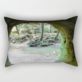 Cave View of Forest Rectangular Pillow