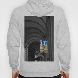 Blue Tabacchi Lotto Bologna Sign Black and White Photography Hoody