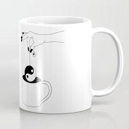 Peace Tea Minimal Line Drawing Coffee Mug