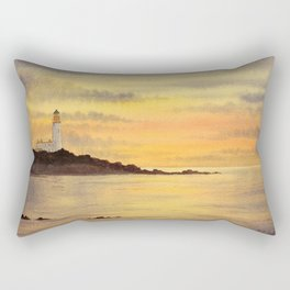 Turnberry Lighthouse Scotland Sunset Rectangular Pillow
