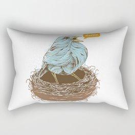 Twisty Bird Rectangular Pillow