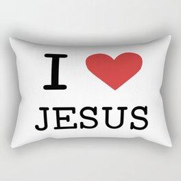 Christian,Bible Quote,I love Jesus Rectangular Pillow