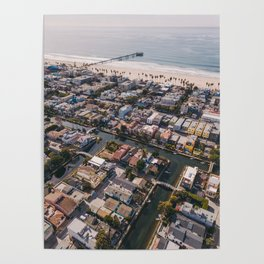 From Above | Venice Canals, Caifornia Poster