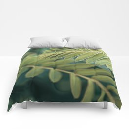 Layers Of Green #1 Comforters