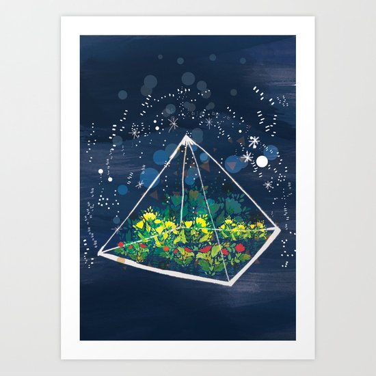 The Greenhouse at Night Art Print
