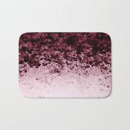 Burgundy CrYSTALS Ombre Gradient Bath Mat