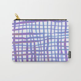 Watercolor doodle gingham - ultra violet Carry-All Pouch