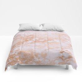Pastel Lavender Marble Rosegold Glitter Pink Comforters