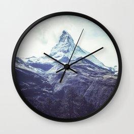 Mountain Peak / Misty Mountaintops / Forest Cliffs Wall Clock