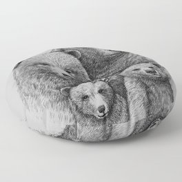 Family photo (mr. Bear) Floor Pillow