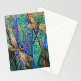 Colorful Dragonflies Stationery Cards