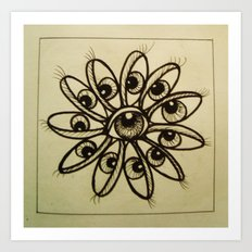 Eye Flower Art Print