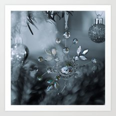 snowflake monochrome Art Print