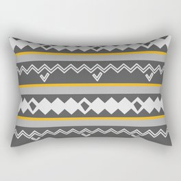 Gray stripes and native shapes Rectangular Pillow