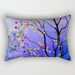 sparkling winter night sky Rectangular Pillow