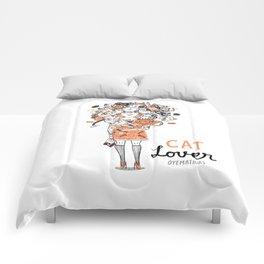 Cat lover  Comforters