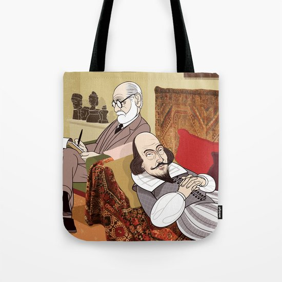 Freud analysing Shakespeare Tote Bag
