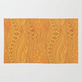 Hot Wave. tribal geometric seamless pattern Rug